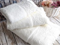 Feronia Ecru (молочный) Полотенце банное
