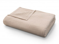 Покрывало-одеяло муслиновое бежевое