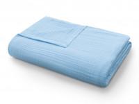 Покрывало-одеяло муслиновое голубое