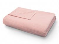 Покрывало-одеяло муслиновое пудровое