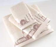 Полотенце с печатью Istanbul Krem (кремовый)
