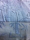 Простынь махровая бамбук (голубой)