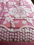 Простынь махровая хлопок (розовый)