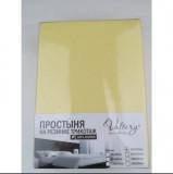 Простынь на резинке трикотажная (PT нежно-желтая)