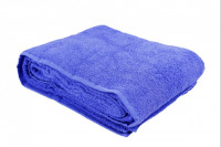Простыня-покрывало махровая голубая