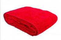 Простыня-покрывало махровая красная