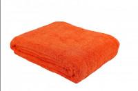 Простыня-покрывало махровая оранжевая