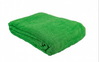 Простыня-покрывало махровая ярко-зеленая