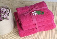 Shalla полотенца Fusya (малиновый) набор 3шт