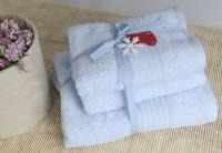 Shalla полотенца Mavi (голубой) набор 3шт