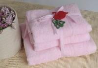 Shalla полотенца Pink (розовый) набор 3шт