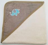 Уголок дет. махровый с вышивкой Слоненок (кремовый)